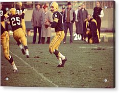 Bart Starr Ready To Throw Acrylic Print by Retro Images Archive
