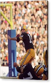 Bart Starr Throwing Acrylic Print by Retro Images Archive