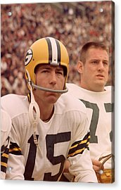 Bart Starr Watches From The Sideline Acrylic Print by Retro Images Archive