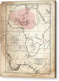 Barth And Livingstone's Africa Acrylic Print by Library Of Congress, Geography And Map Division