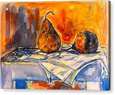 Bartlett Pears Acrylic Print by Kendall Kessler