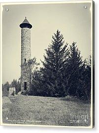 Bartlett Tower Dartmouth College Hanover Nh Acrylic Print by Edward Fielding