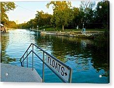 Barton Springs Pool In Austin Texas Acrylic Print