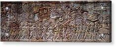 Bas Relief Angkor Wat Cambodia Acrylic Print