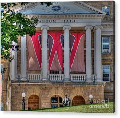 Bascom Hall-on Wisconsin Acrylic Print by David Bearden
