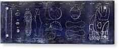 Baseball Patent Blue Acrylic Print by Jon Neidert
