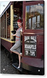 Acrylic Print featuring the photograph Base Ball To Day Color Version by Jim Poulos