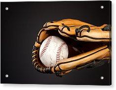 Baseball And Glove Acrylic Print by Joe Belanger