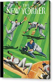 Baseball Ballet Acrylic Print by Mark Ulriksen