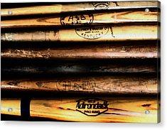 Baseball Bats Acrylic Print by Bill Cannon