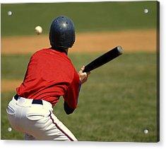 Baseball Batter Acrylic Print by Lane Erickson