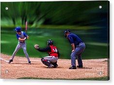 Baseball Batter Up Acrylic Print by Thomas Woolworth