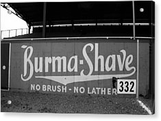 Baseball Field - Burma Shave Acrylic Print by Frank Romeo