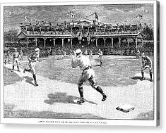 Baseball Game, 1886 Acrylic Print by Granger
