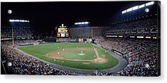 Baseball Game Camden Yards Baltimore Md Acrylic Print by Panoramic Images
