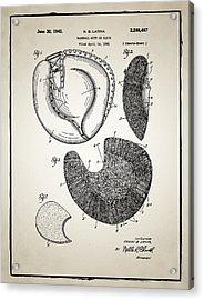 Baseball Glove Patent Acrylic Print by Bill Cannon