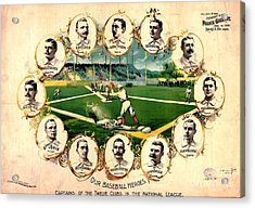 Baseball Heroes - 1895 Acrylic Print by Pg Reproductions