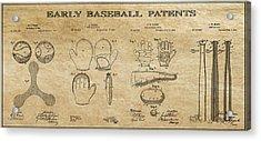 Baseball History 3 Patent Art Acrylic Print