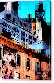 Baseball Is Coming - Watertower And Sports Poster Acrylic Print by Miriam Danar