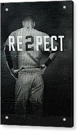 Baseball With Jeter Acrylic Print