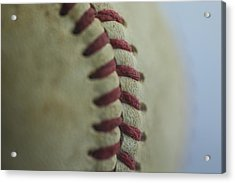 Baseball Macro 2 Acrylic Print