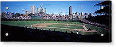 Baseball Match In Progress, Wrigley Acrylic Print by Panoramic Images