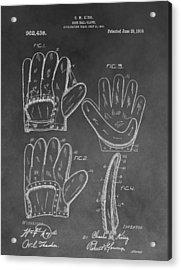 Baseball Mitt Patent Acrylic Print