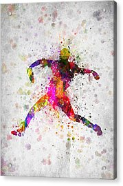 Baseball Player - Pitcher Acrylic Print by Aged Pixel