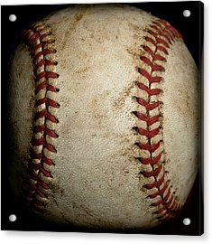 Baseball Seams Acrylic Print by David Patterson