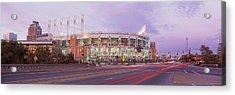Baseball Stadium At The Roadside Acrylic Print by Panoramic Images