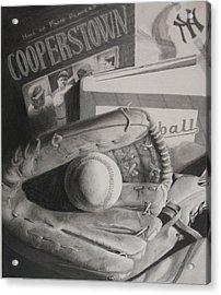 Baseball Still Life Acrylic Print