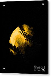 Baseball The American Pastime Acrylic Print by Edward Fielding