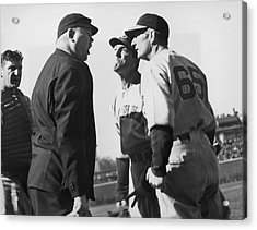 Baseball Umpire Dispute Acrylic Print by Underwood Archives