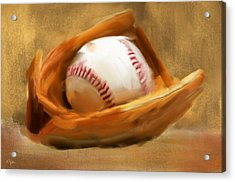 Baseball V Acrylic Print by Lourry Legarde