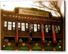 Baseballs Classic  V Bostons Fenway Park Acrylic Print by Iconic Images Art Gallery David Pucciarelli