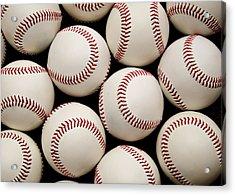 Baseballs Acrylic Print by Ricky Barnard