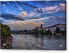 Basel Bathed In Moonlight Acrylic Print by Carol Japp