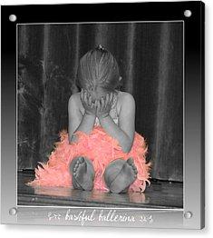 Bashful Ballerina Acrylic Print