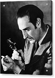 Basil Rathbone In Sherlock Holmes And The Voice Of Terror  Acrylic Print by Silver Screen