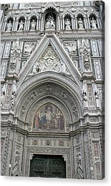 Basilica Di Santa Maria Del Fiore Florence Tuscany Italy Realistic Acrylic Print by Karen Stephenson