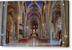 Basilica Di Santa Maria Sopra Minerva Acrylic Print by Uri Baruch