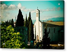 Basilica In Assisi  Acrylic Print by Raimond Klavins