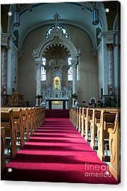 Acrylic Print featuring the photograph Basilica Of Saint Stanislaus Kostka Interior Center by Kari Yearous