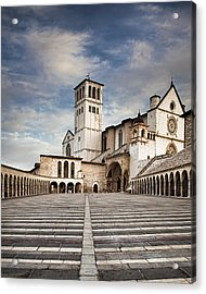 Basillica Of St Francis Of Assisi In Italy Acrylic Print