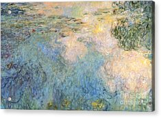 Basin Of Water Lilies Acrylic Print by Claude Monet