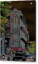 Basin Park Hotel Acrylic Print by Jan Amiss Photography