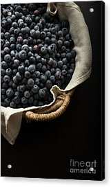 Basket Full Fresh Picked Blueberries Acrylic Print