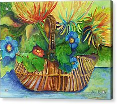 Flowers In My Basket Acrylic Print