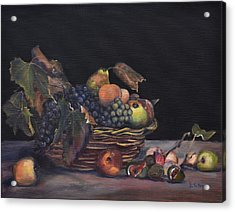 Basket Of Fruit Acrylic Print by Donna Tuten
