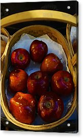 Basket Of Red Apples Acrylic Print